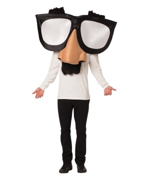 Unisex Nose Glasses Costume