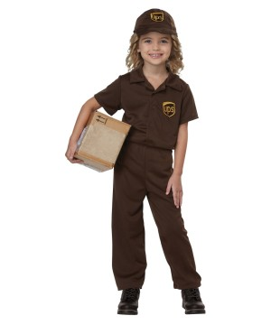 Ups Worker Kids Costume