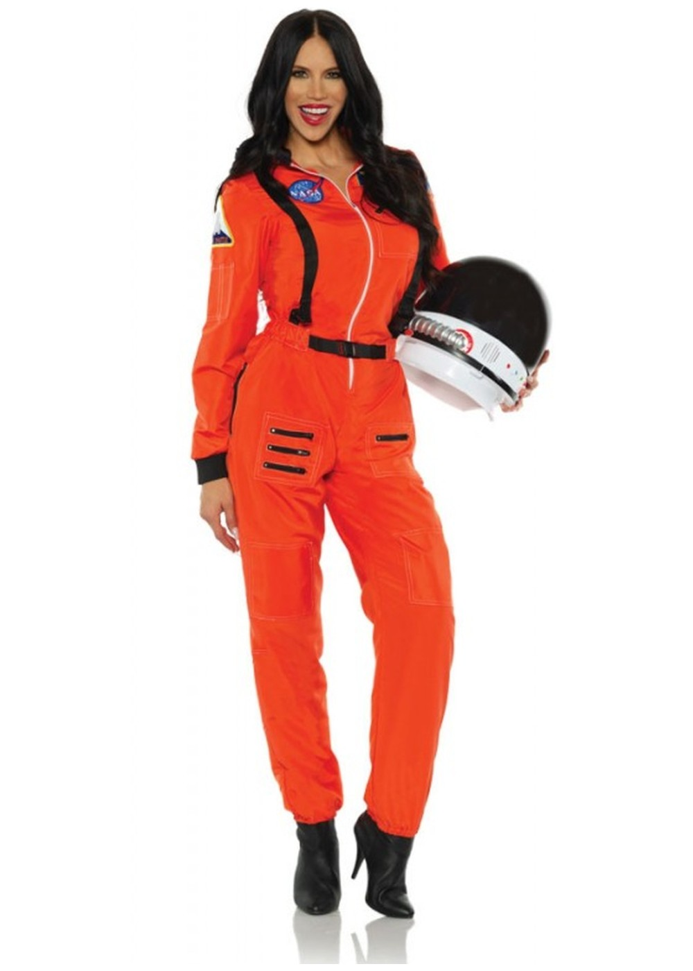 Astronaut Orange Woman Costume