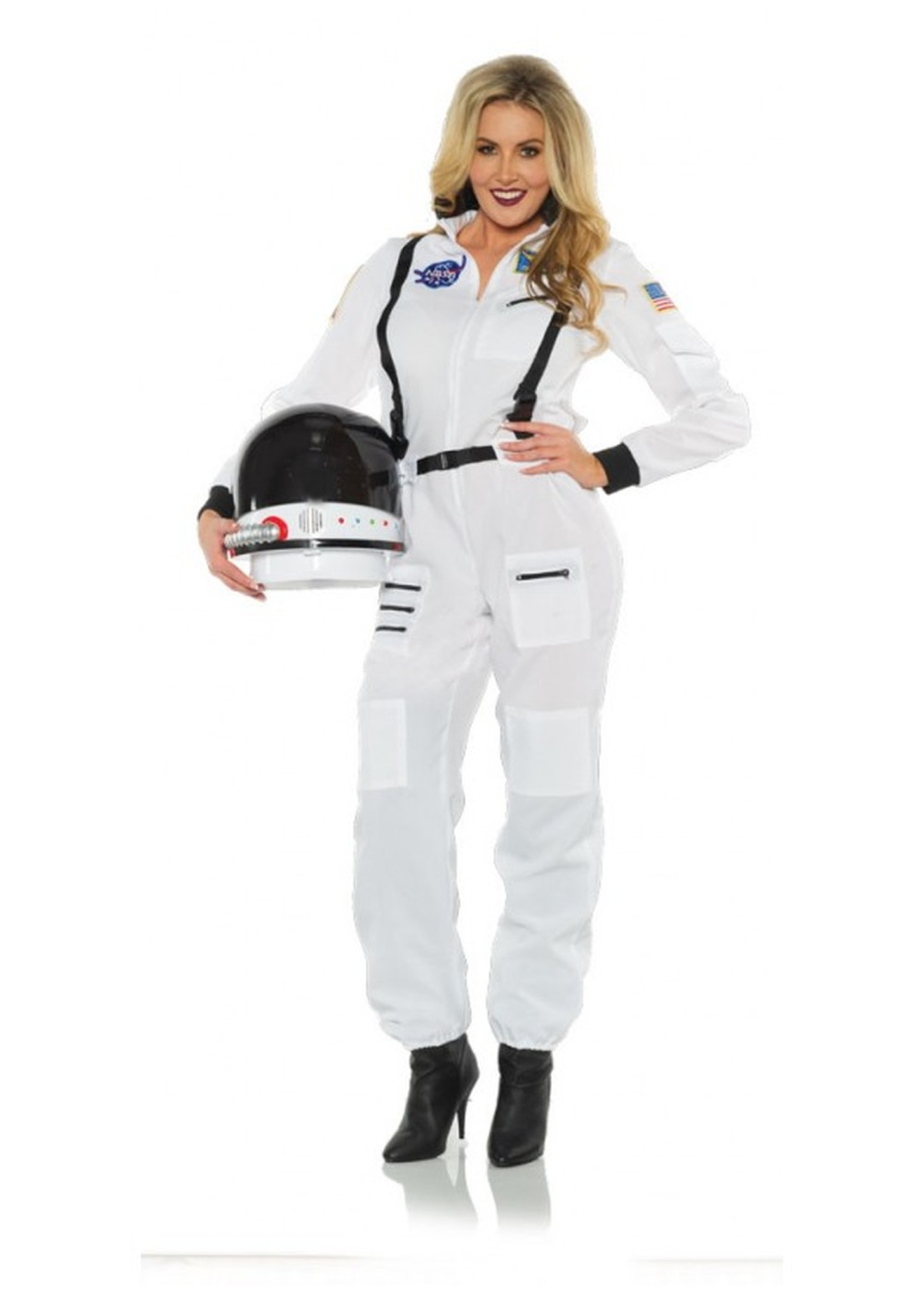 Astronaut White Woman Costume