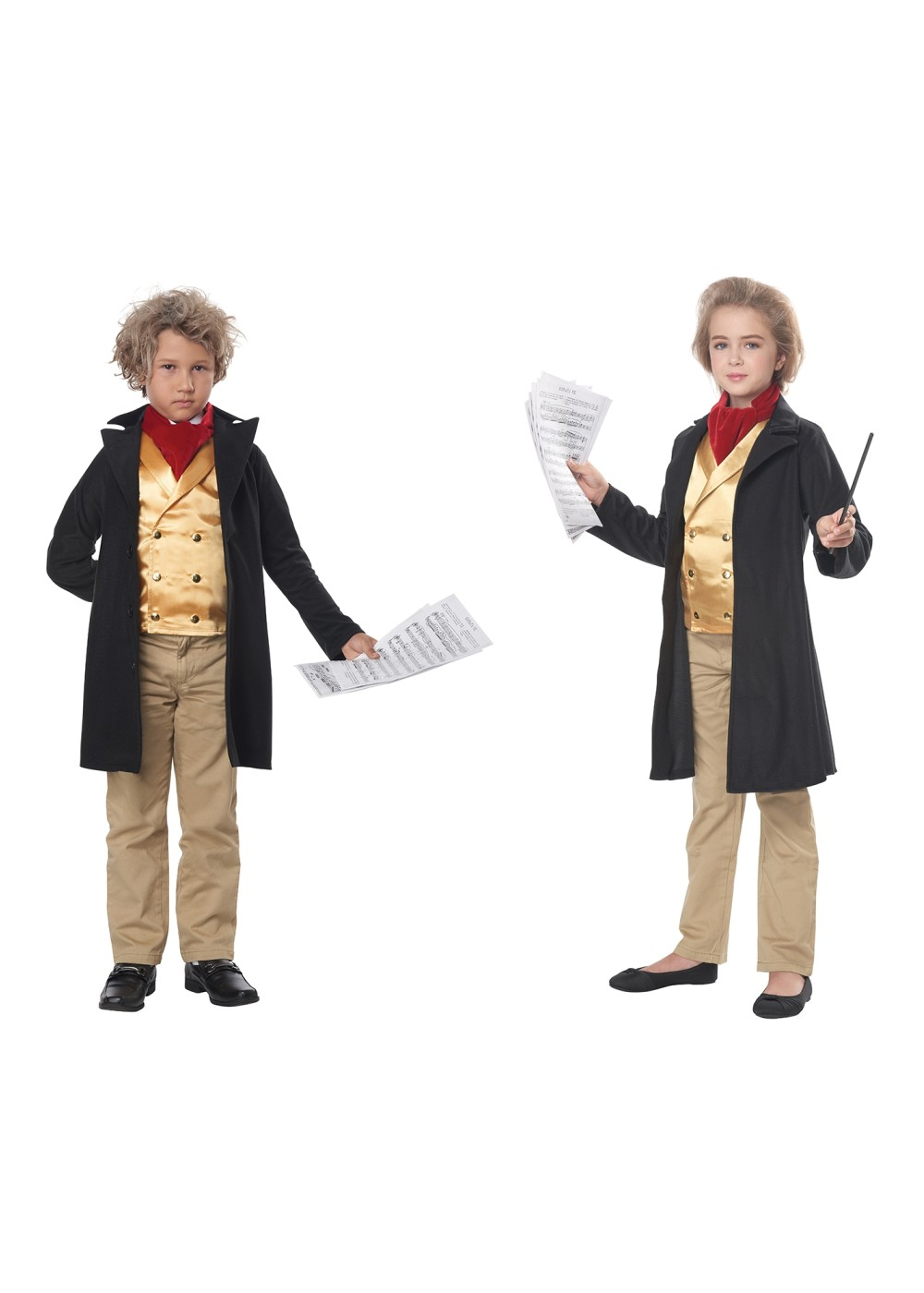 Kids Famous Composer /beethoven Kid Costume