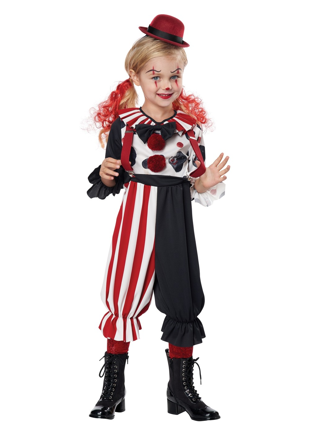 Kids Kreepy Klown Kid Unisex Costume