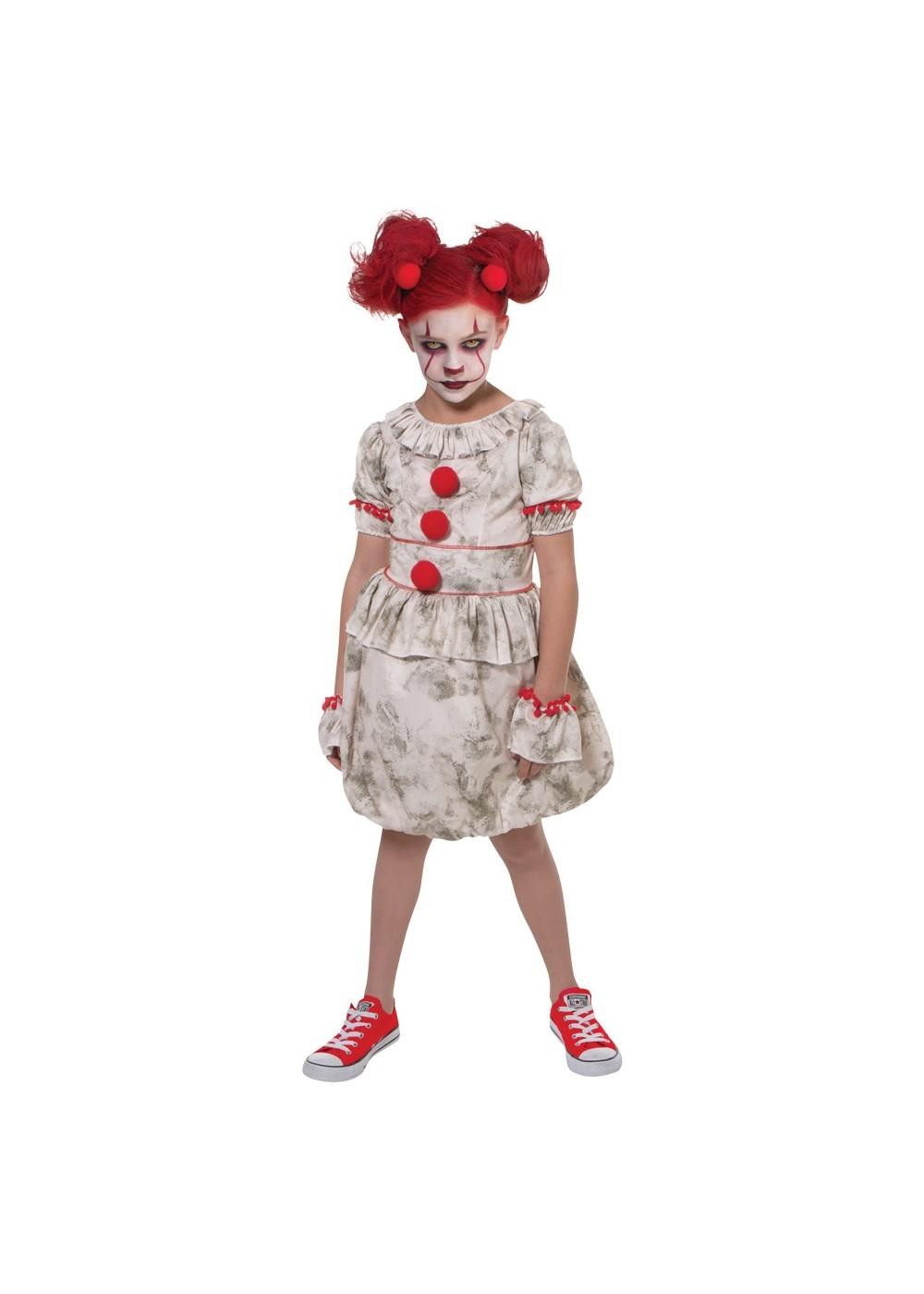 Kid\u0027s Girls Dancing Clown Costume , Scary Costumes