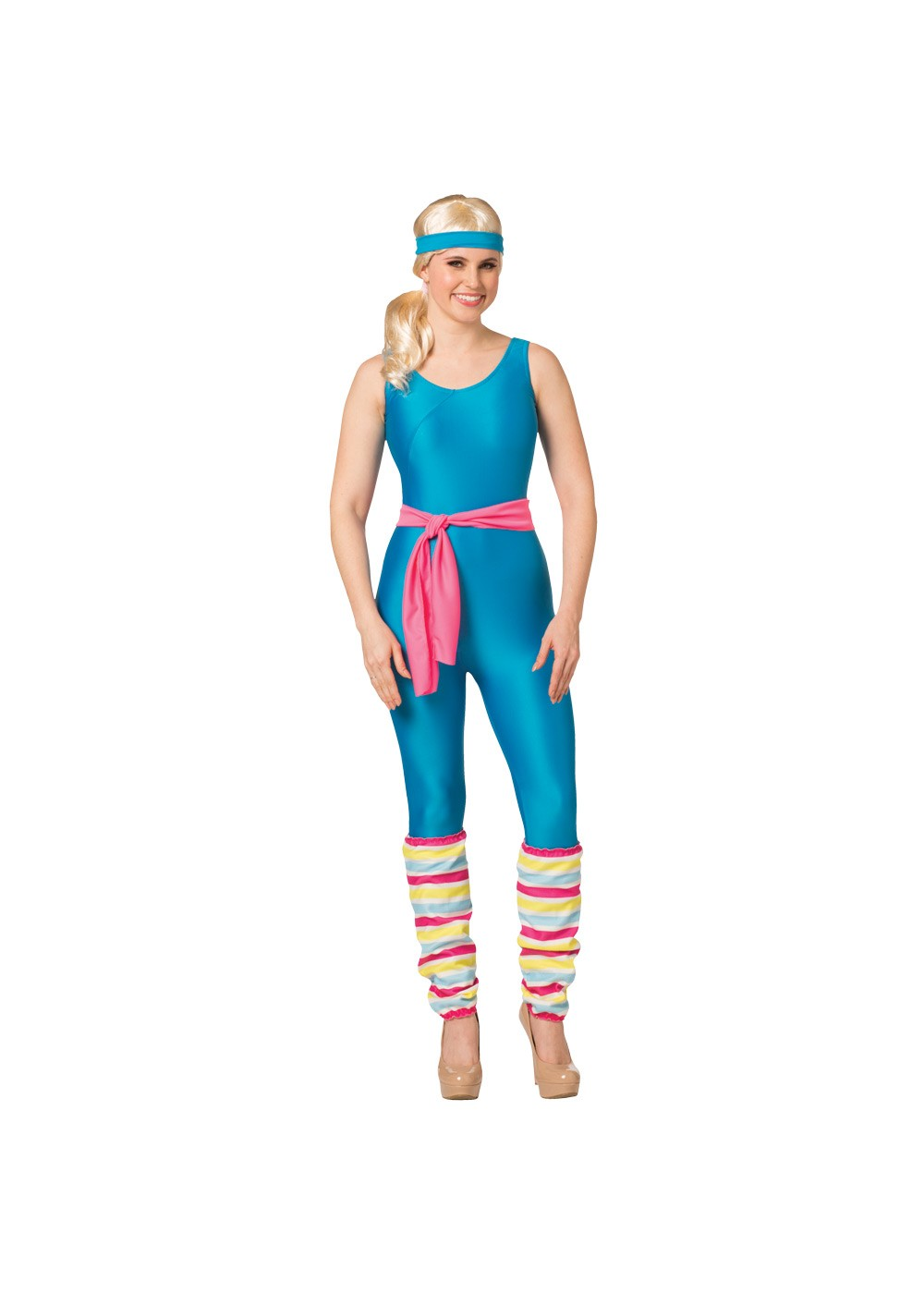 Womens Exercise Barbie Costume