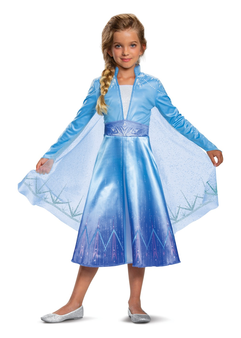 Kids Girls Frozen 2 Elsa Costume Deluxe
