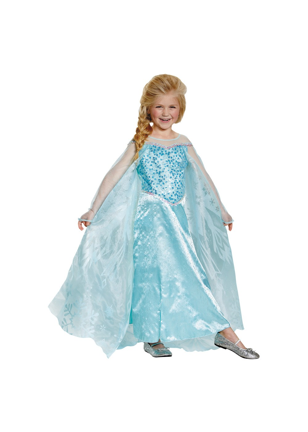 Kids Girls Frozen Elsa Disney Costume Prestige