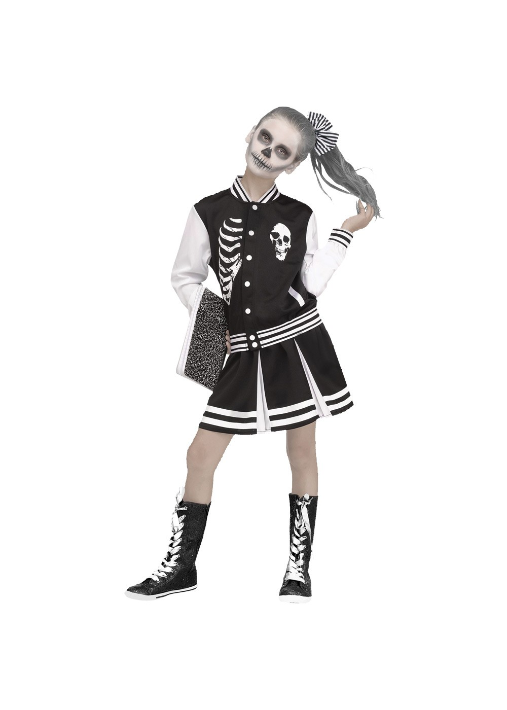 Kids Girls Scare Squad Skeleton Costume