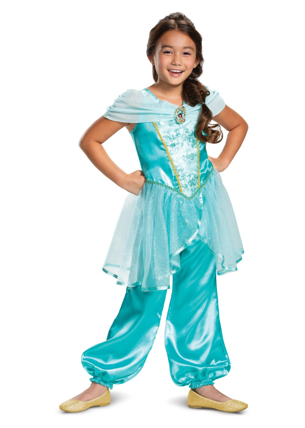 Kids Disney Jasmine Classic Girls Costume