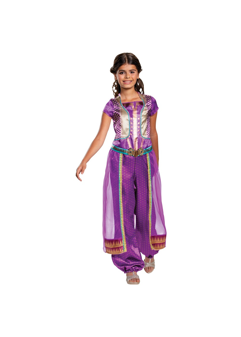 Kids Jasmine Purple Girls Costume