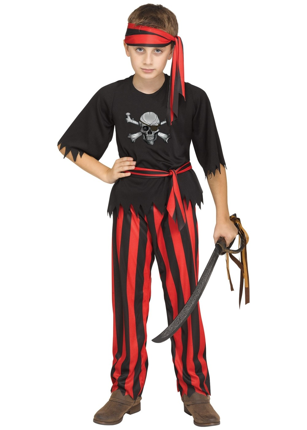 Jolly Roger Pirate Boy Costume