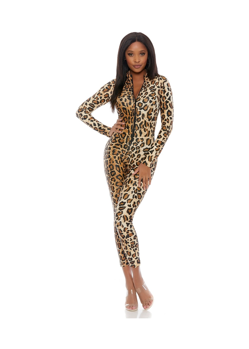 Leopard Jumpsuit Women Costume