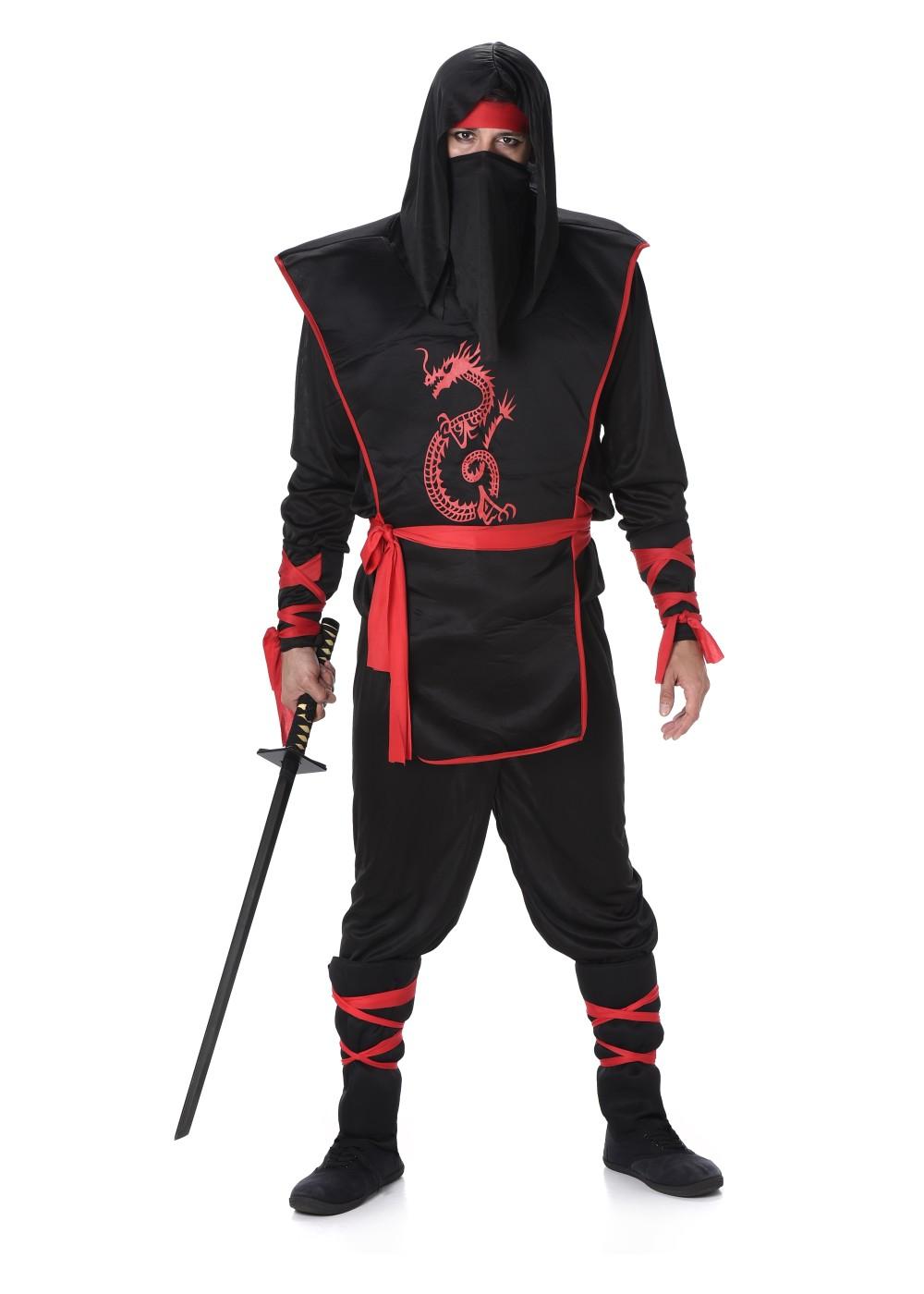 Mens Ninja Costume , Asian Costumes , New for 2019