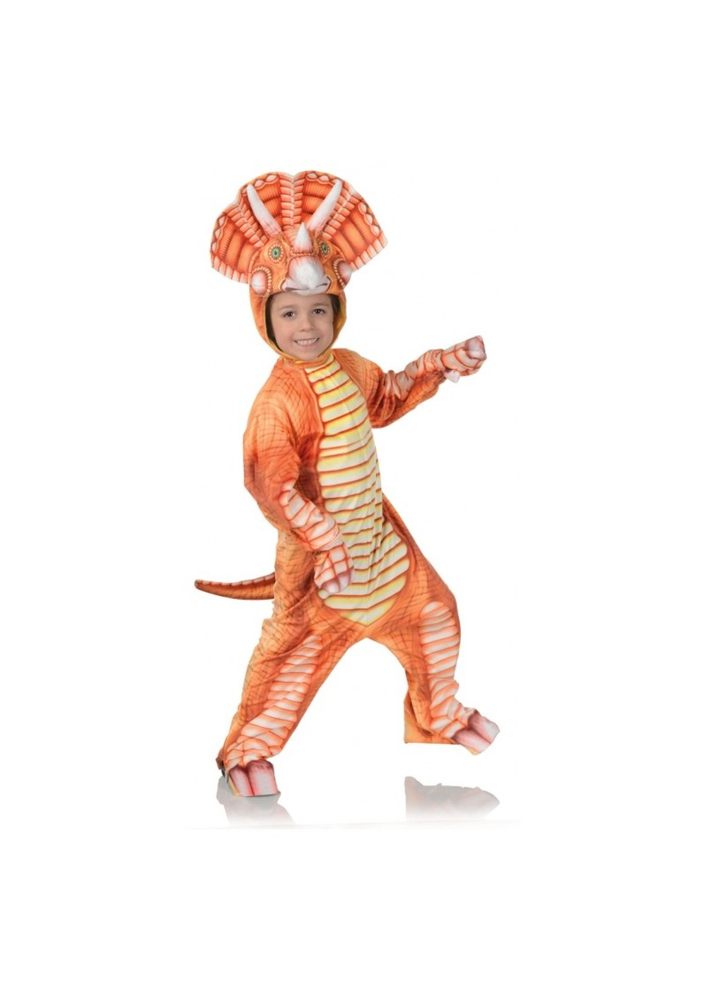 Kids Orange Triceratops Child Costume