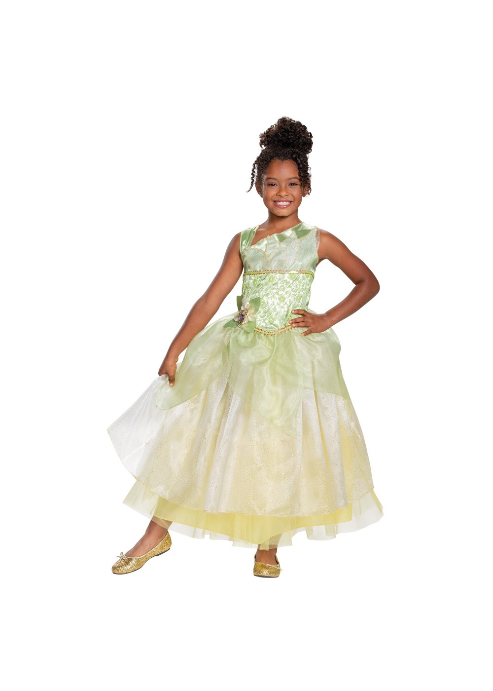 Kids Disney Princess Tiana Deluxe Girls Costume