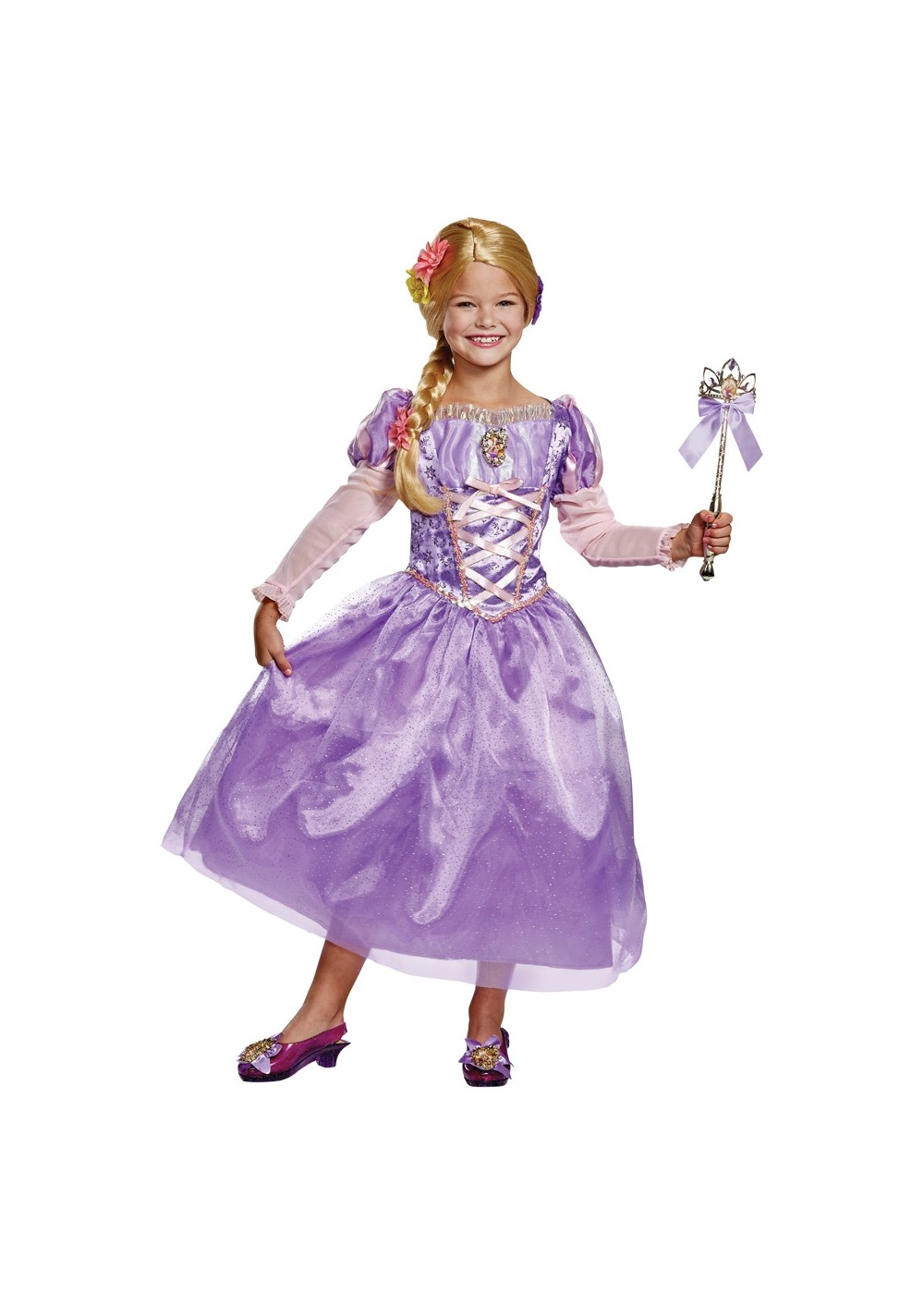 Kids Disney Rapunzel Girls Dress Costume