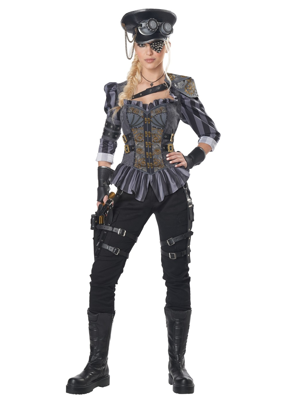 Steampunk Captain Women Costume