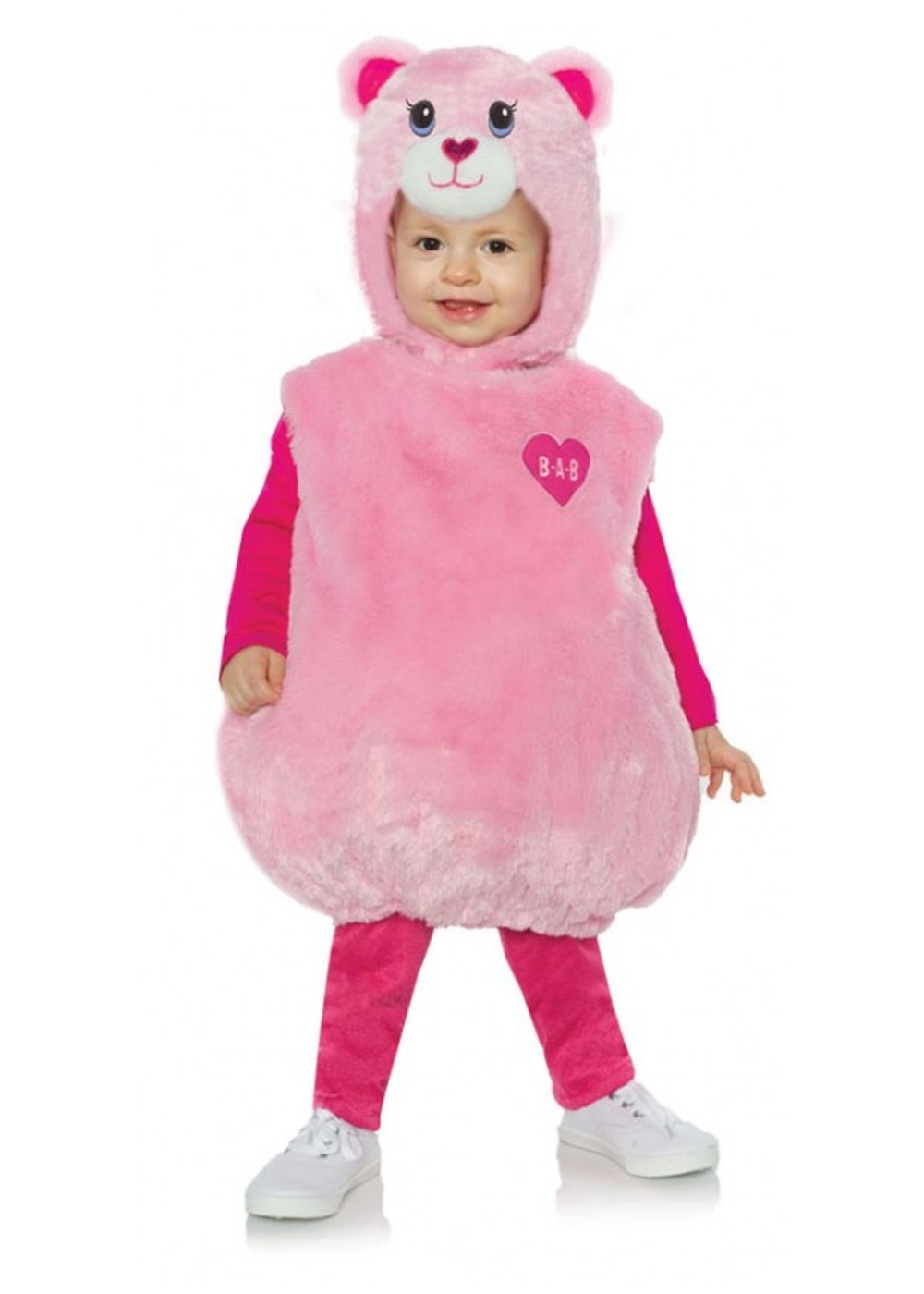 Kids Toddlers Build A Bear Pink Teddy Costume