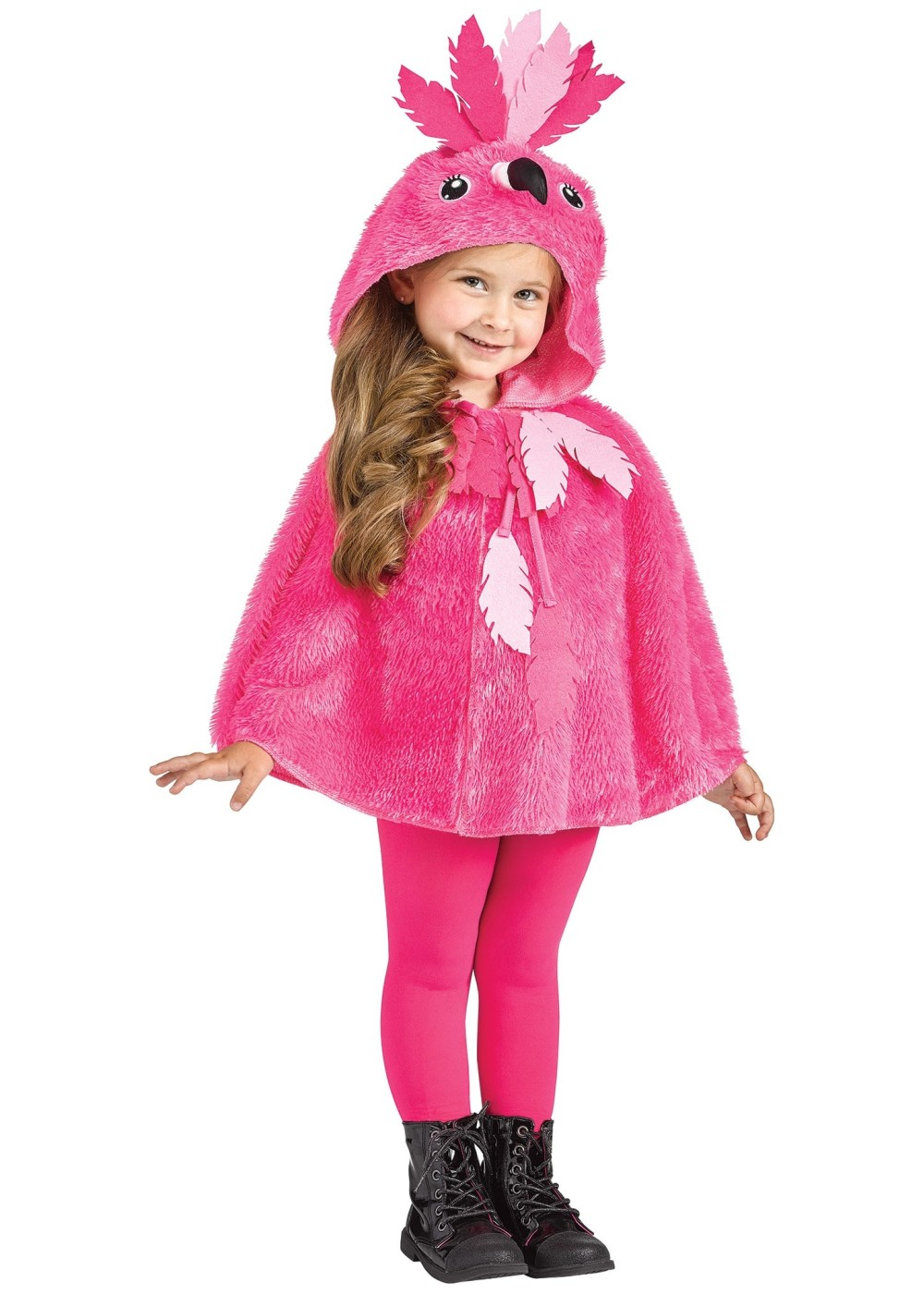 Kids Toddler Flamingo Hooded Cape