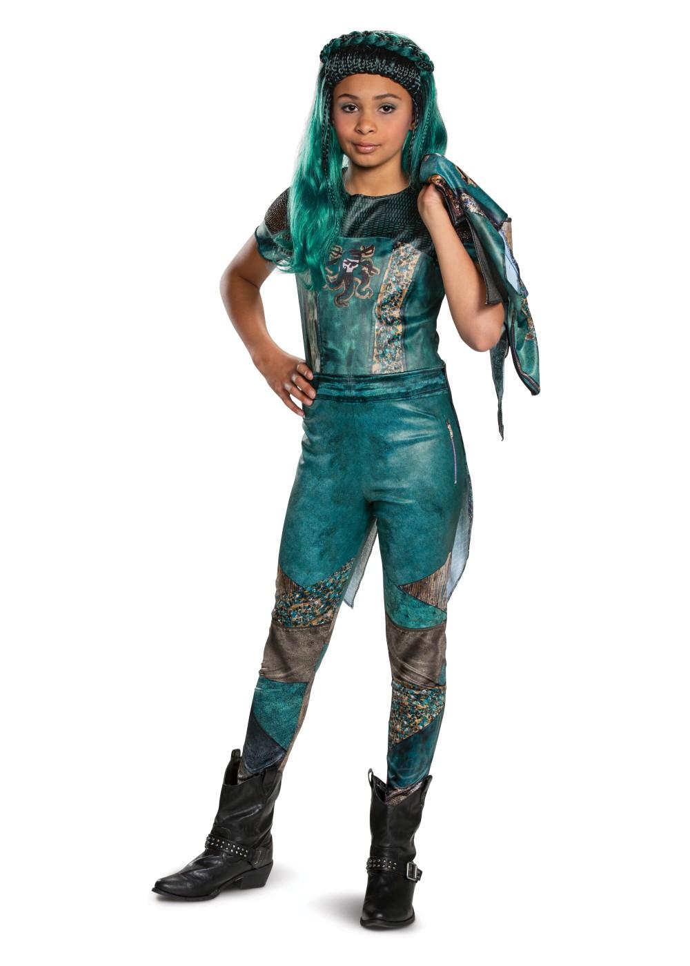 Childs Girl/'s Classic Disney Descendants 3 Uma Costume
