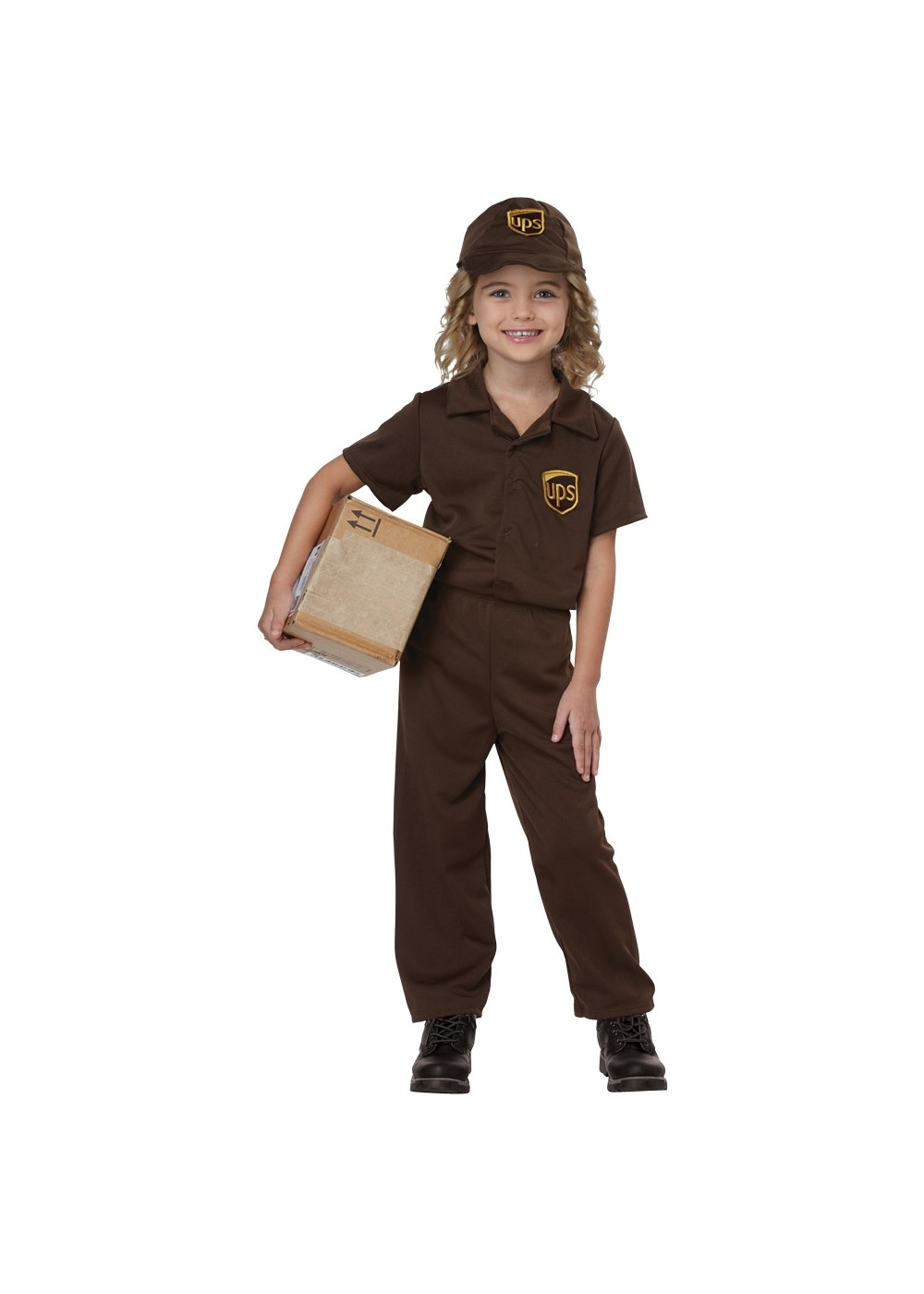 Kids Ups Worker Child Costume