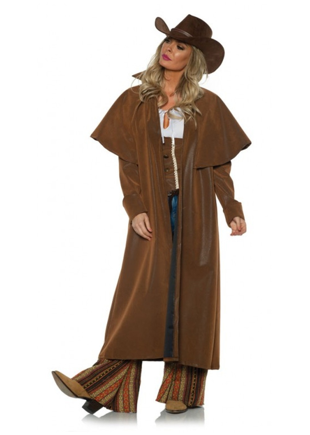 Western Woman Duster Cowboy Coat