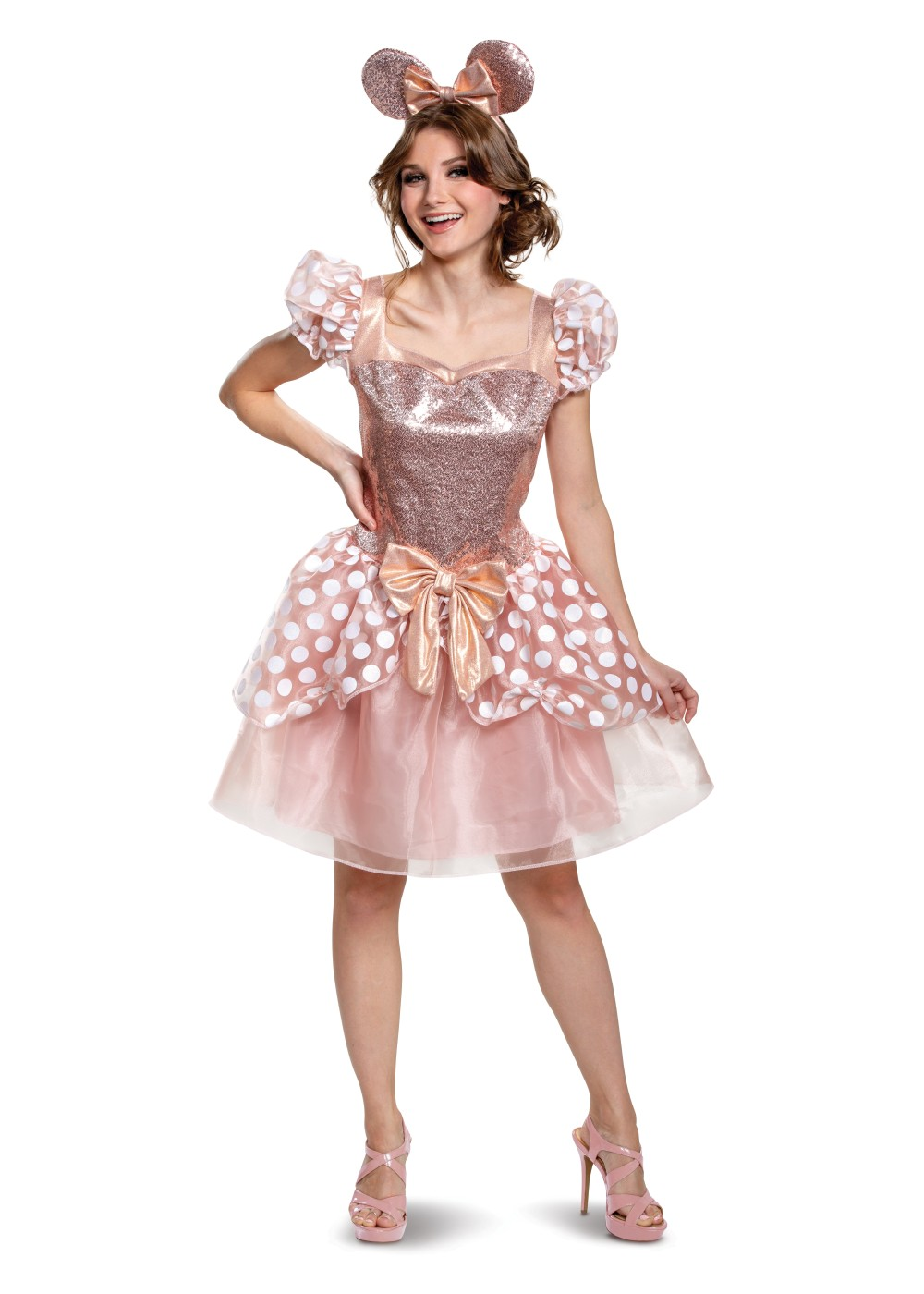 Rose Gold Minnie Deluxe Women Costume