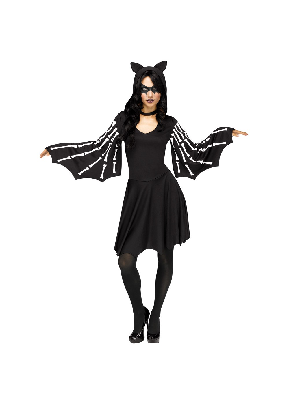 Womens Skeleton Dress Costume