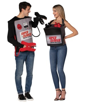 Battery Jumper Cables Couple Costume Adult