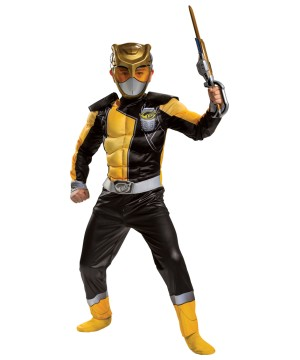 Boys Gold Ranger Muscle Costume Beast Morphers