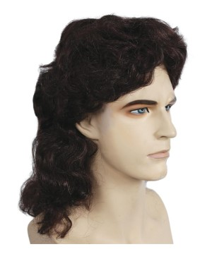 Brown Mens Mullet