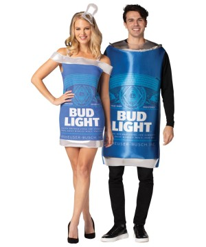 Bud Light Tunic and Dress Couple Costume
