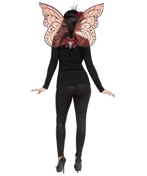 Burgundy Sparkle Wings Adult