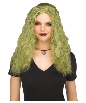 Green Crimped Sorceress Wig