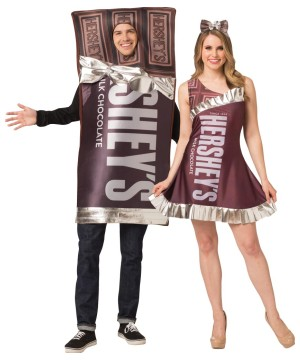 Hershey's Bar Tunic and Dress Couple's Costume