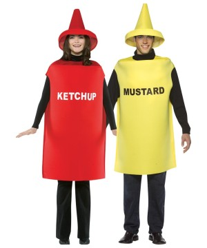 Ketchup and Mustard Couple's Costume