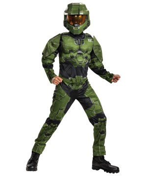 Halo Boys Master Chief Infinite Muscle Costume