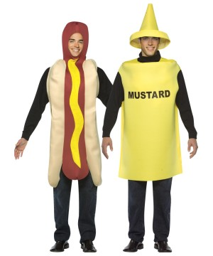 Mustard and Hot Dog Couples Costume