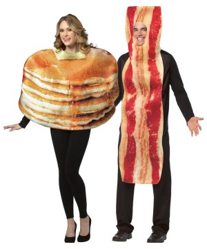 Pancake Bacon Slice Couple Costumes