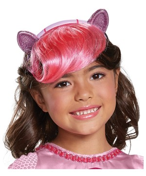 Pinkie Headpiece With Hair Kids Little Pony