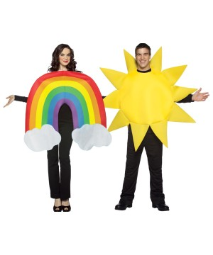 Rainbow Couples Costumes
