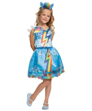 Little Pony Rainbow Dash Girls Costume