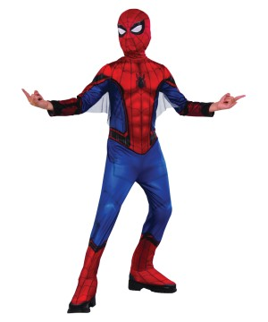 Red and Blue Spiderman Kids Costume
