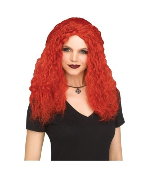 Red Crimped Sorceress Wig