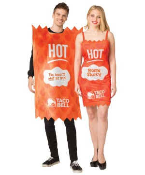 Taco Bell Sauce Dress Couples Costume