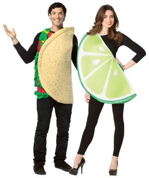 Taco Lime Slice Couple Costume