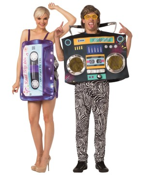 Tape Dress Boom Box Couple Costume