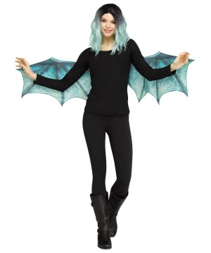 Teal Dragon Wings