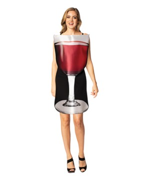 Wine Glass Womens Costume