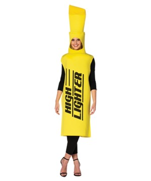 Yellow Highlighter Adult Costume