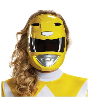 Yellow Ranger Mask Adult Mighty Morphin